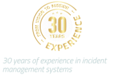 30 years of experience in incident management systems